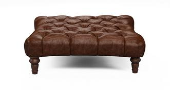 Palace Leather Square Footstool
