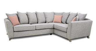 Pateley Pillow Back Left Hand Facing 3 Seater Corner Sofa