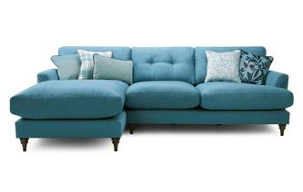 Left Hand Facing Large Chaise Sofa Patterdale Plain
