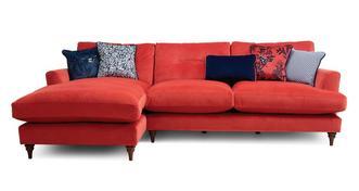 Patterdale Velvet Left Hand Facing Large Chaise Sofa