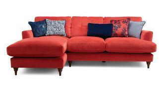 Patterdale Velvet Left Hand Facing Small Chaise Sofa