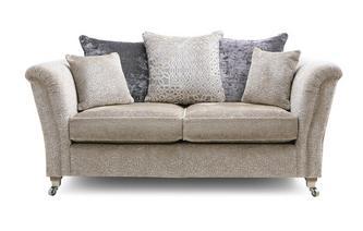 Textured Pillow Back 2 Seater Sofa