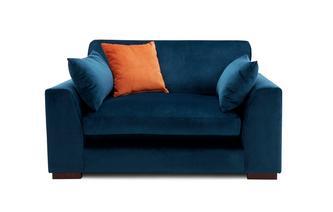 Velvet Formal Back Cuddler Sofa