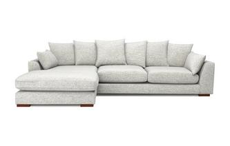 Pillow Back Left Hand Facing Large Chaise End Sofa