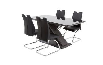 Fixed Table and Set of 4 Cantilever Chairs