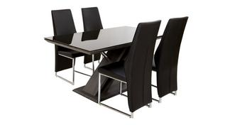 Prospect Fixed Table & Set of 4 Chairs