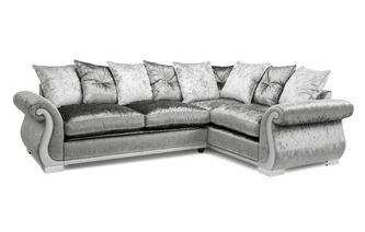 Pillow Back Left Hand Facing Arm 3 Seater Supreme Corner Sofa Bed