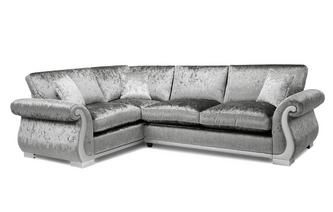 Formal Back Right Hand Facing Arm 3 Seater Supreme Corner Sofa Bed