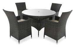 Rattan Parasol Table And Chairs