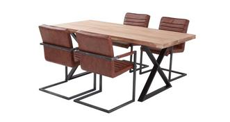 Reeve Fixed Table & 4 Cantilever Chairs