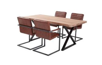 Fixed Table & 4 Cantilever Chairs Reeve