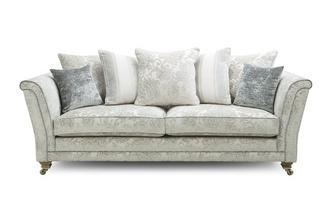Floral Pillow Back 4 Seater Sofa