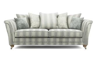 Stripe Pillow Back 4 Seater Sofa