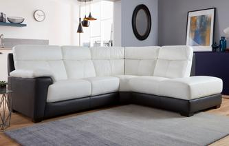Romano Option A Left Hand Facing Arm 2 Piece Corner Sofa Essential