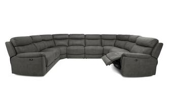Option O Power 8 Piece U Shape Sofa
