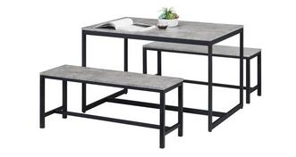 Rondo Fixed Top Table with 2 Benches