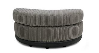 Ronnie Half Moon Footstool