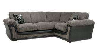 Ronnie Formal Back Left Hand Facing 2 Seater Corner Sofa