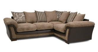 Ronnie: Pillow Back Left Hand Facing 2 Seater Corner Sofa