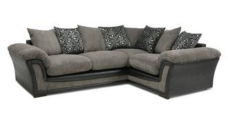 Ronnie Pillow Back Left Hand Facing 2 Seater Corner Sofa