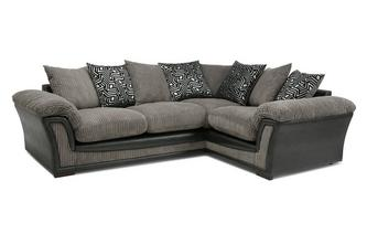 Pillow Back Left Hand Facing 2 Seater Corner Sofa Roxy