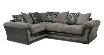 Ronnie Pillow Back Right Hand Facing 2 Seater Corner Sofa