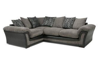 Pillow Back Right Hand Facing 2 Seater Corner Sofa