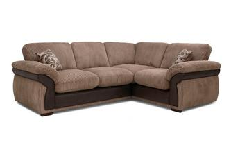 Formal Back Left Hand Facing 2 Seater Corner Deluxe Sofa Bed