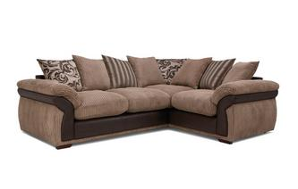 Pillow Back Left Hand Facing 2 Seater Corner Deluxe Sofa Bed
