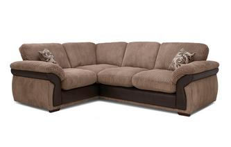 Formal Back Right Hand Facing 2 Seater Corner Deluxe Sofa Bed