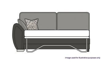 Formal Back Left Hand Facing Arm 3 Seater Supreme Sofa Bed