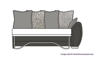 Pillow Back Right Hand Facing Arm 3 Seater Supreme Sofa Bed