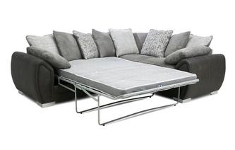 Pillow Back Left Hand Facing 3 Seater Deluxe Corner Sofa Bed