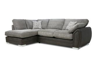 Formal Back Right Hand Facing 3 Seater Open End Supreme Corner Sofabed