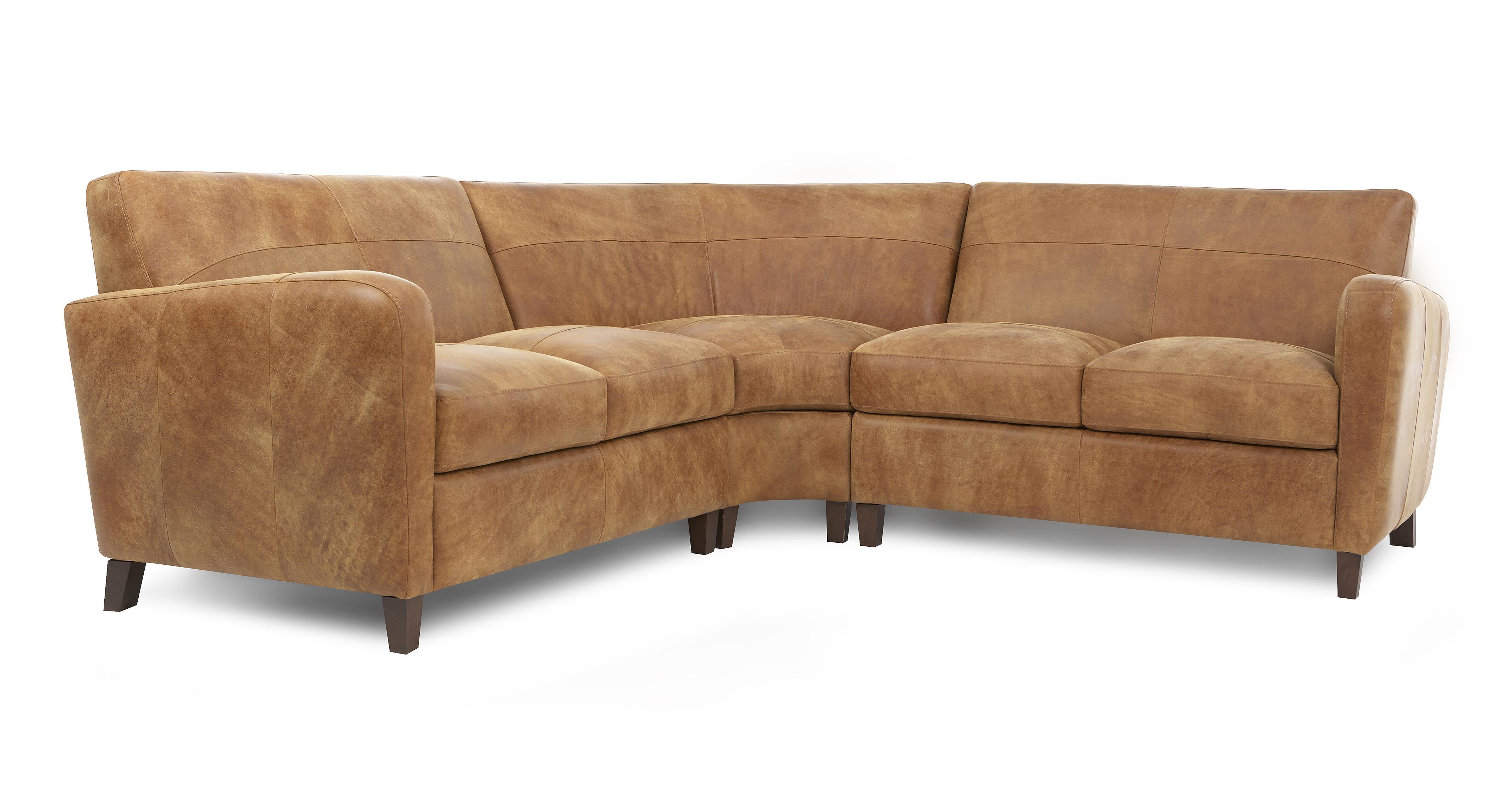 Dfs Safari Brown Leather Set Inc Corner Sofa Armchair
