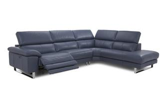 Option C Left Arm Facing Single Power Recliner Corner Sofa