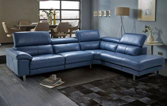 Salone Option C Left Arm Facing Single Power Recliner Corner Sofa New Club
