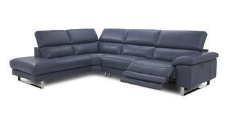 Salone Option D Right Arm Facing Single Power Recliner Corner Sofa