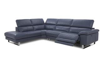 Option D Right Arm Facing Single Power Recliner Corner Sofa New Club
