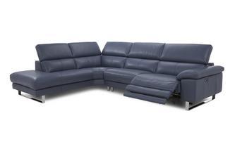 Option D Right Arm Facing Single Power Recliner Corner Sofa