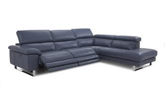 Option E Left Arm Facing Twin Power Recliner Corner Sofa New Club