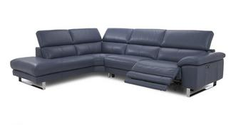 Salone Option F Right Arm Facing Twin Power Recliner Corner Sofa