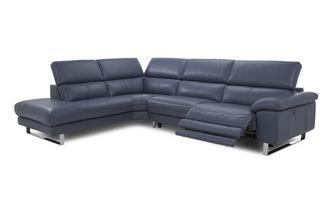 Option F Right Arm Facing Twin Power Recliner Corner Sofa