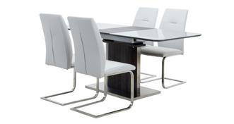 Salou Extending Dining Table & Set of 4 Chairs