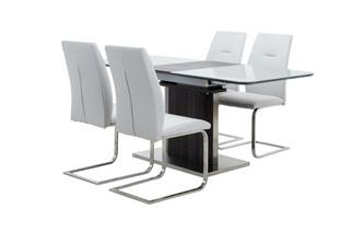 Extending Dining Table & Set of 4 Chairs Salou
