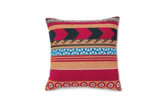 Wide Stripe Pillowback Salsa Fabric