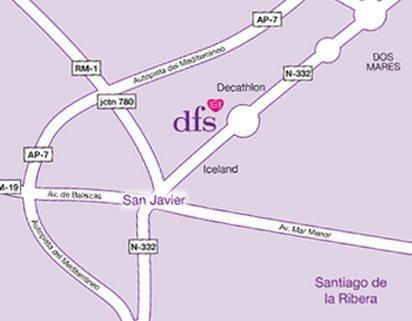 DFS San Javier map