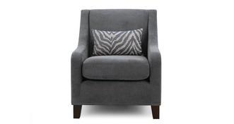 Savanna Accent Chair with 1 Pattern Bolster