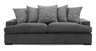 Savanna Pillow Back 4 Seater Sofa Removable Arm