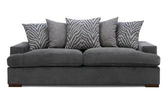 Pillow Back 4 Seater Sofa Removable Arm Savanna